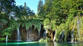Живописный пейзаж водопадов в национальном парке озер Plitvice Стоковые Фото
