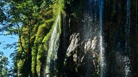 Живописный пейзаж водопадов в национальном парке озер Plitvice Стоковое Фото