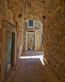 Живописный переулок, остров Хиоса Стоковое фото RF