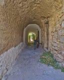 Рисуночный переулок, остров Хиоса Стоковое Изображение