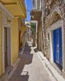 Живописный переулок, остров Хиоса Стоковое Изображение