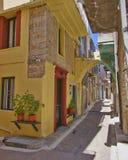Живописный переулок, остров Хиоса Стоковые Изображения RF