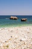 Живописный пляж Damouchari на Pelion в Греции стоковая фотография rf