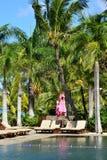 Живописный район Ла Pointe вспомогательного Canonniers в Маврикии Repu Стоковые Фотографии RF