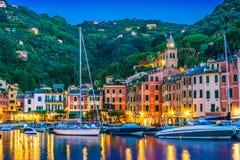 Живописный рыбацкий поселок Portofino, Лигурия, Италия стоковая фотография