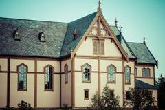 Живописный собор Lofoten на островах Lofoten в Норвегии Стоковые Фото