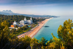 Живописный среднеземноморской seascape в Турции Взгляд Tekiro Стоковые Фотографии RF