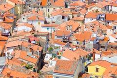 Живописный старый городок Piran, Словения Стоковое Изображение