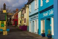 Живописный угол Улица стренги dingle Ирландия Стоковое Изображение RF