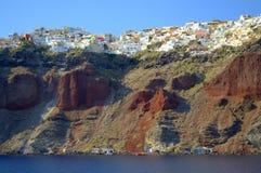 Живописный Oia, Santorini, Греция Стоковые Фото