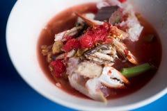 Животики fo иен лапшей розовых морепродуктов плоские стоковые фото