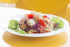 Животик сома, салат папапайи Стоковое Фото