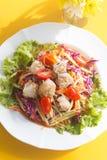 Животик сома, салат папапайи Стоковое Изображение