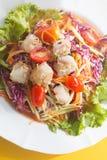 Животик сома, салат папапайи Стоковая Фотография
