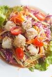 Животик сома, салат папапайи Стоковые Фотографии RF