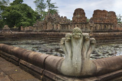 Животик Prasat Hin Muang висок кхмера в районе Prakhon Chai, провинции Buri Ram, Таиланде Стоковая Фотография