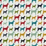Животная безшовная картина вектора силуэтов собаки Стоковые Фотографии RF