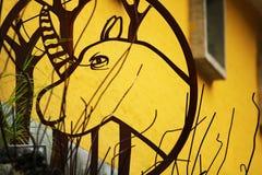 Животная картина сделанная от металлолома стоковое фото rf