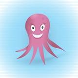 животная смешная иллюстрация мое море портфолио изображений восьминога розовое видит подобный вектор Стоковые Изображения