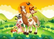 Животноводческие фермы в поле бесплатная иллюстрация