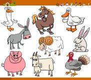 Животноводческие фермы установили иллюстрацию шаржа Стоковые Изображения