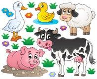 Животноводческие фермы установили 1 бесплатная иллюстрация
