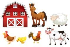 Животноводческие фермы иллюстрация штока