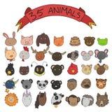 Животное возглавляет вектор Стоковые Изображения