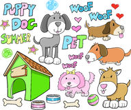 животное милое лето щенка любимчика собаки Стоковые Изображения RF