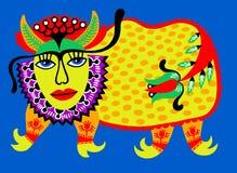 Животное фантазии Украинская традиционная картина Стоковое Фото
