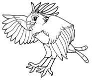 Животное шаржа - едок змейки - карикатура иллюстрация штока