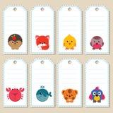 Животные бирки подарка Стоковая Фотография RF