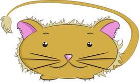 Животные вектора, лев Стоковое Изображение