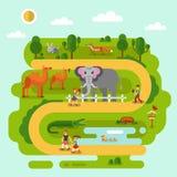 Животные в зоопарке Стоковое Изображение RF