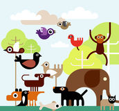 Животные джунглей Стоковые Фотографии RF