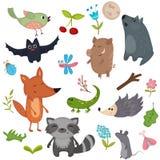Животные леса иллюстрация штока