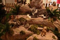 Животные, зоопарк с чучелами на путешествии в Италии Стоковые Изображения
