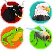 животные иконы Стоковые Фото