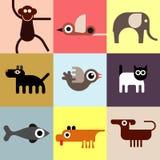 Животные и любимчики иллюстрация вектора