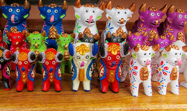 Животные идолы на mercado de las brujas в Боливии стоковое изображение