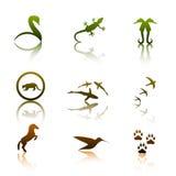 животные логосы Стоковое Изображение RF