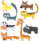 животные милые иллюстрация вектора