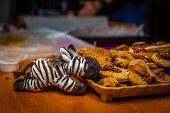 Животные не едят пряник рождества стоковая фотография rf