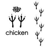 Животные печати лапки Стоковые Изображения