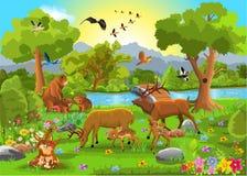 Животные семьи иллюстрация штока