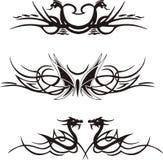 животные симметричные виньетки Стоковые Фотографии RF