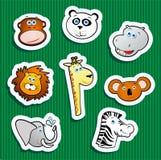 животные стикеры джунглей иллюстрация вектора