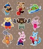 животные стикеры спорта Стоковое фото RF