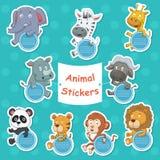 Животные стикеры Стоковые Фото