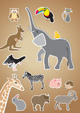 Животные стиля шаржа иллюстрация вектора